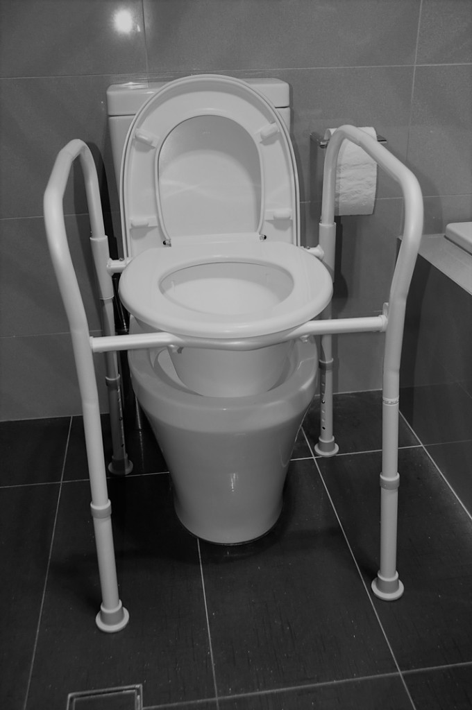Overtoilet Aid Folding With Splash Guard For Elderly