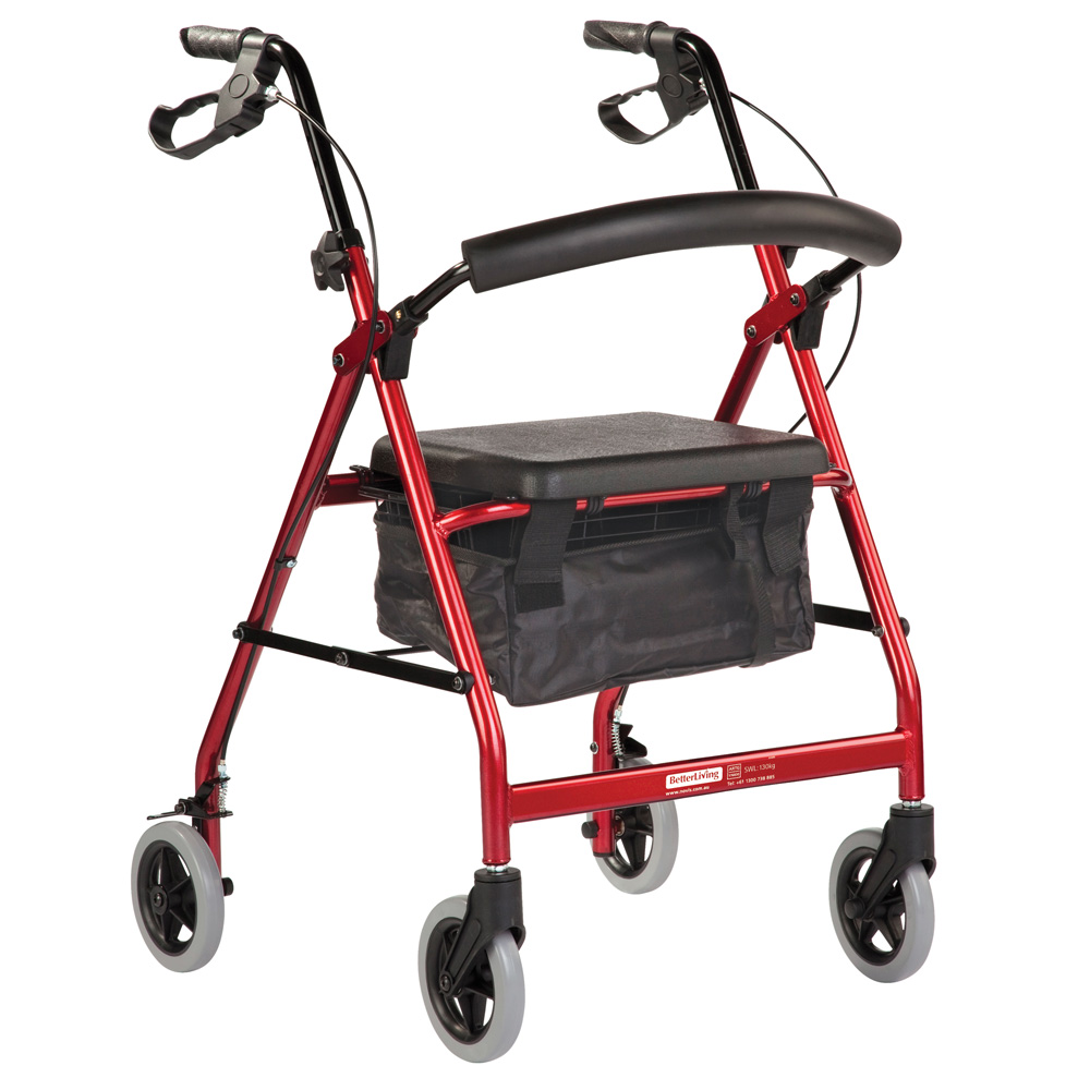 Seat walker Smooth Glide Wheeled Standard Red Product Code BL1089 ...