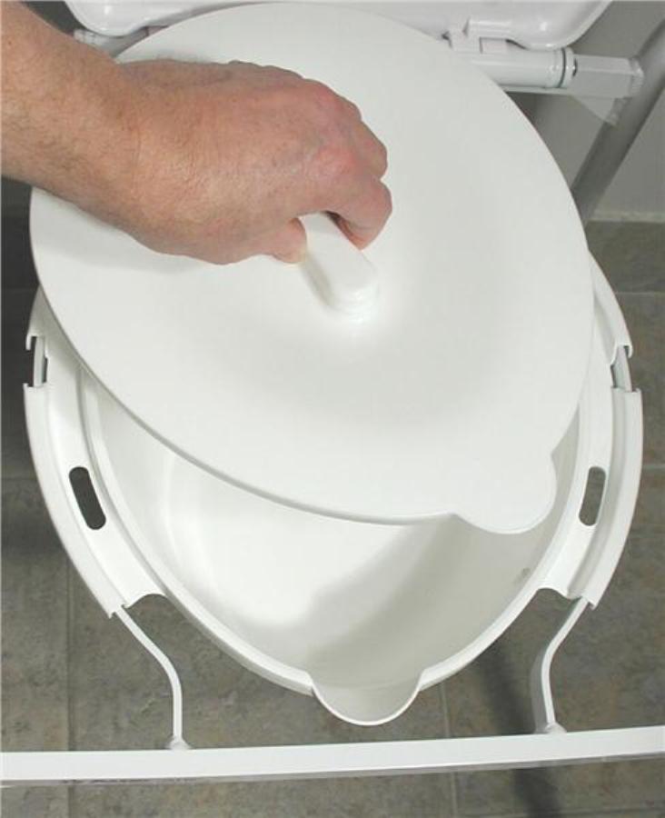 Overtoilet Aid Folding With Splash Guard For Elderly