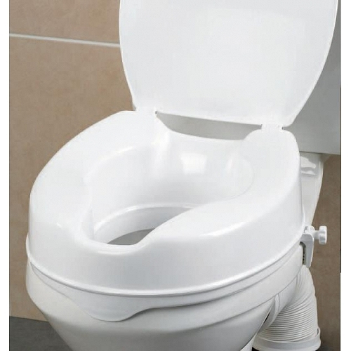 Raised Toilet seat Savanah 150 with lid provides a higher elevated