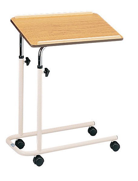 Tilting Overbed Table with castors. Product Code HLC-751C