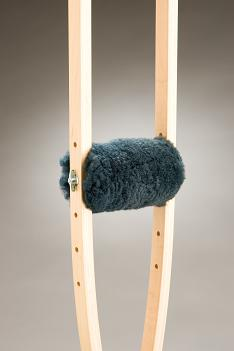 Sheepskin Hand Grip for timber or aluminium underarm crutches.  Product Code 302SH