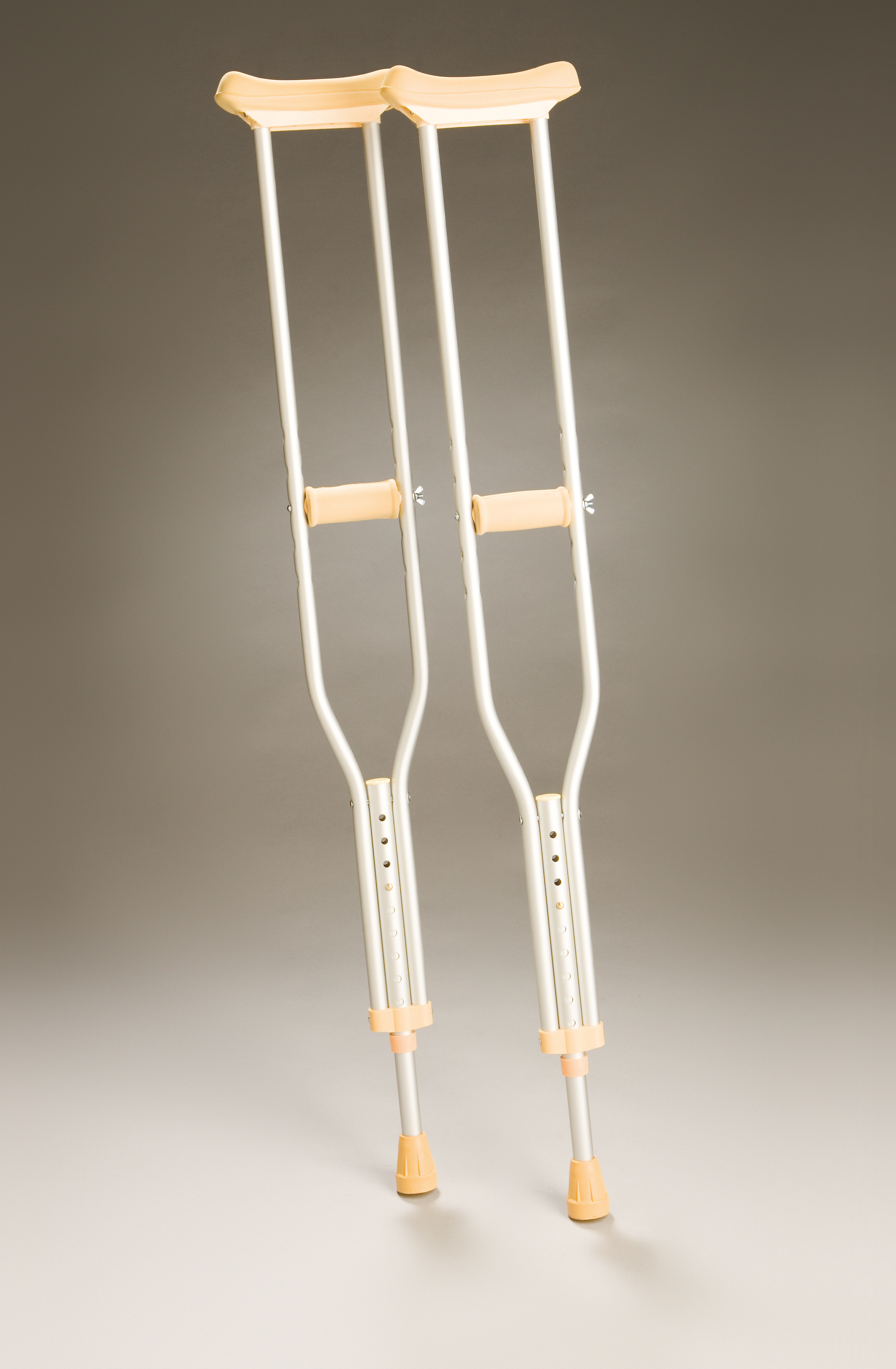 Crutches Underarm Adjustable - Aluminium - Youth.  Product Code 350Y