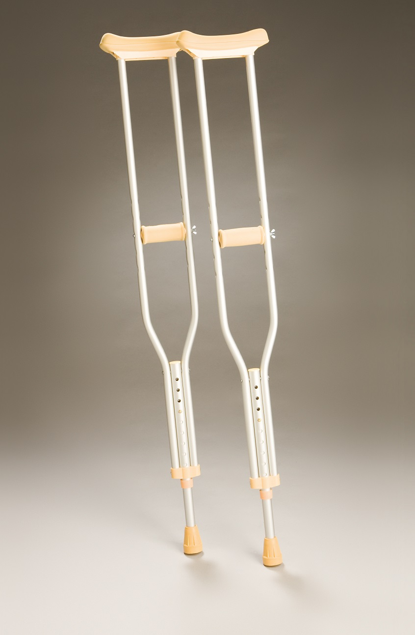 Crutches Underarm Adjustable - Aluminium - Large.  Product Code 350L