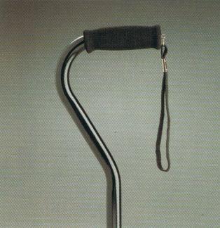 Swan Neck Adjustable Walking stick Black  Product Code 560BL