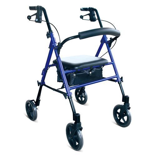 """DAYS-KD1012-BLUE Rollator Seat Walker, 7.5"""" Wheels, BLUE"""