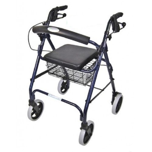 Days Seat Walker with Handbrakes and Curved Backrest, Blue Product Code:MFI-MOBWAL70493