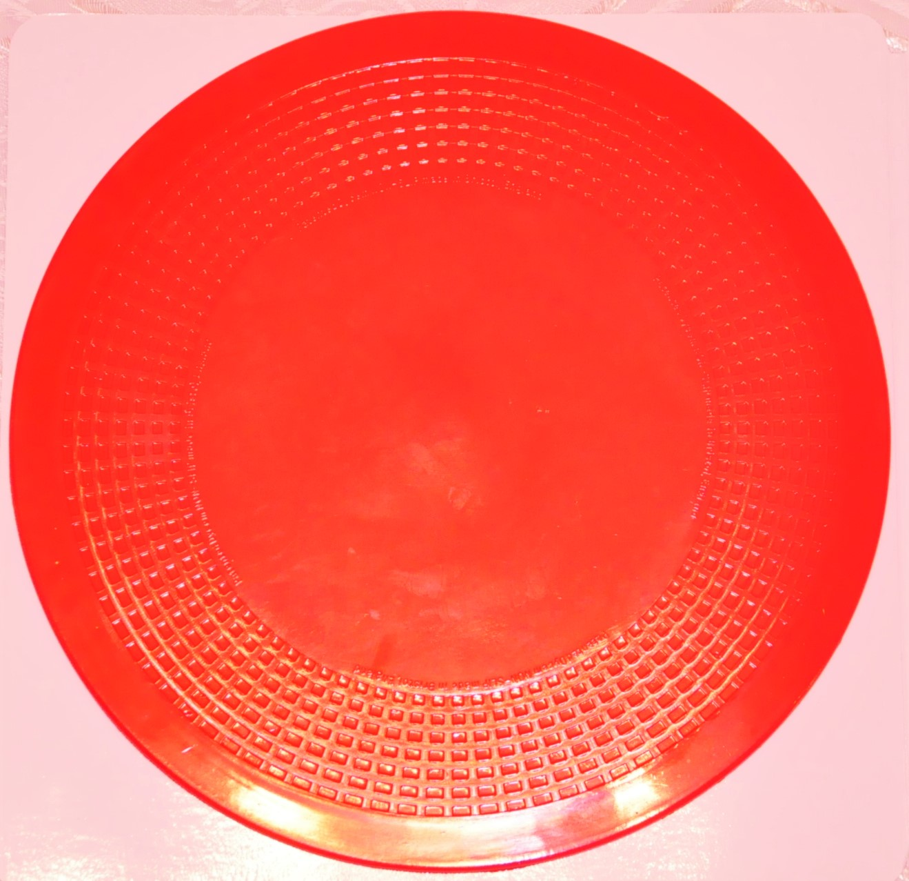 Dycem Matting - 190mm diameter- RED. Product Code aa6812F