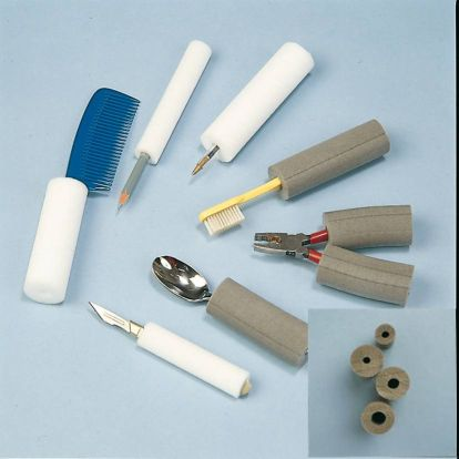 Foam tubing Plastazote to build up handles for weak grip hands. Product Code H6108