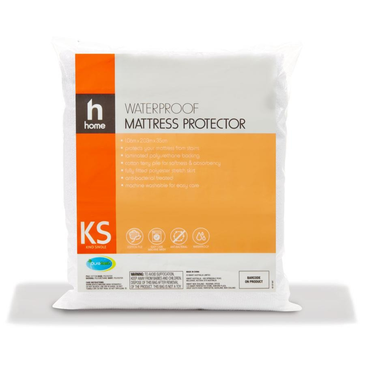 KS Single Mattress Waterproof protector