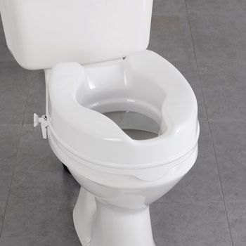 Raised Toilet Seat Provides A Higher Elevated Position For