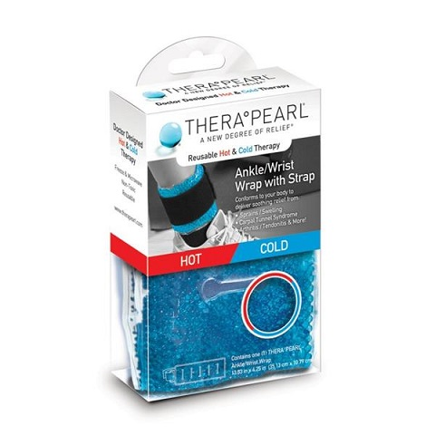 TheraPearl Ankle/Wrist Wrap with Strap Hot or Cold Pain Relief Product Code: PER-TP-RWW1