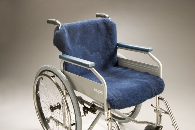 Wheelchair Sheepskin Covers Seat and Back Large Product Code SG28L-49 SW