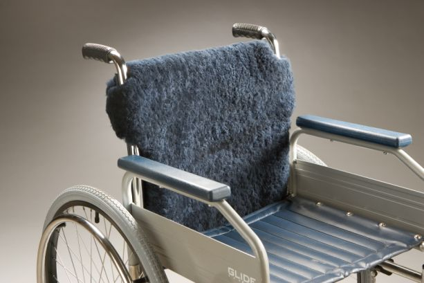 Wheelchair Sheepskin Cover Back 55 Product Code-SG28BL-Back55