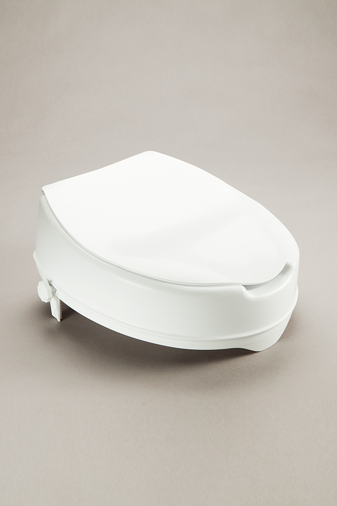 Toilet Seat Raiser Provides A Higher Elevated Position For