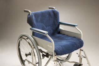 Wheelchair Sheepskin Covers Seat and Back Regular Product Code SG28R-40 SW