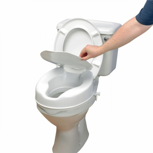 Raised Toilet Seat - Savanah with Lid 150 mm. Product Code AA2116L