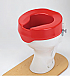 """Raised Toilet Seat - """"Ashby"""" 150 mm. RED Product Code 091538875"""