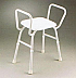 Shower Stool with Arms Aluminium CareQuip Product Code B4001A-A
