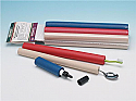 Foam tubing Cylindrical (9.5 mm ID x 28.5 mm OD) RED PK of 6 to build up handles for weak grip hands. Product Code PAT-625102