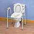Overtoilet Aid with Ashby raised toilet seat. Product Code B1012