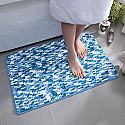 Bathroom Mat Microfibre Non-Slip Product Code-Bath-mat-Micro Blue