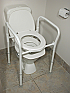 Folding Aluminium Over Toilet Aid Without Splash guard Bucket And Lid Product Code 8560A