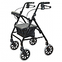 "Days 105 Rollator Seat Walker, 8"" Wheels, Black"